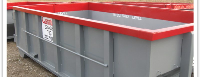 Red Landscaping Waste Bins