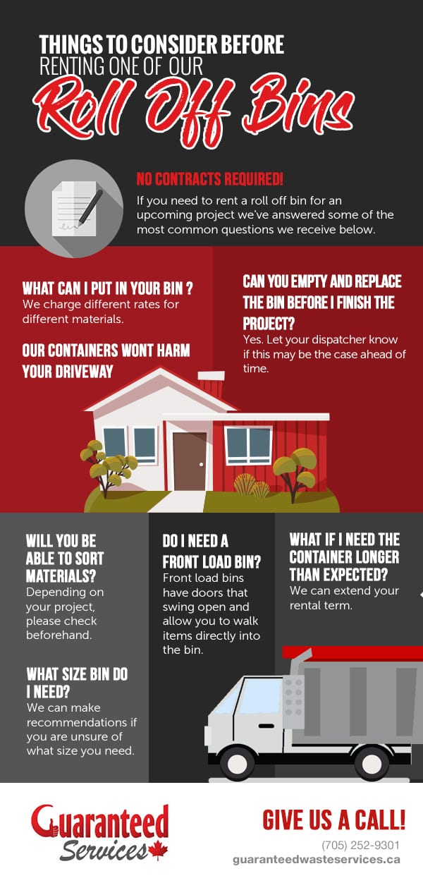 Things to Consider Before Renting One of Our Roll Off Bins